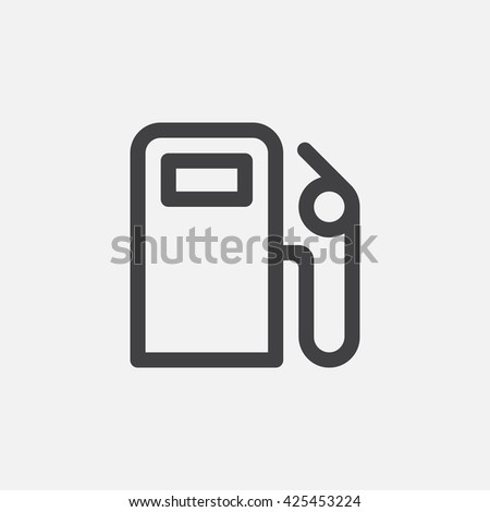 Gas Station Line Icon Petrol Outline Stock Vector 425453224