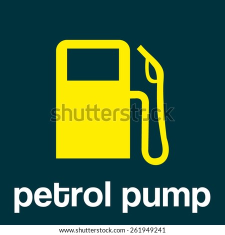 gas station or petrol pump- vector icon - stock vector