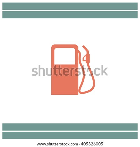 Gas Station Pump vector icon - stock vector