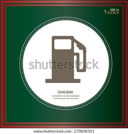 Gas Station sign. Gas station sign on chalkboard.vector illustration. - stock vector