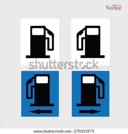 Gas Station sign. Gas station sign on gray background.vector illustration. - stock vector