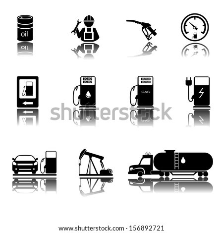 Gas Station sign. Illustration on white background - stock vector