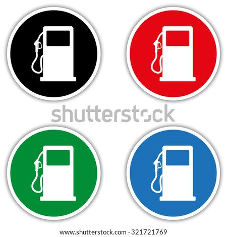 gas station sign  - vector icon