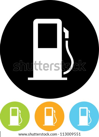 K Gas Station Logos Gas Station Icon Gas station sign vector icon.
