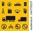Gas station symbols - stock