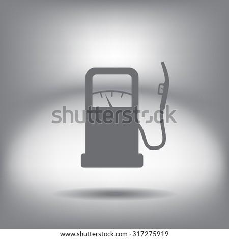 gas station - vector icon - stock vector