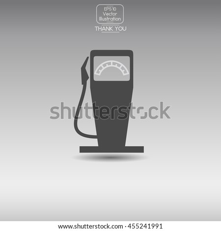 Gas station. Vector icon. - stock vector
