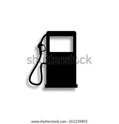 gas station vector icon with shadow - stock vector