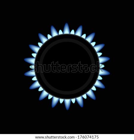 Gas stove burner - stock vector