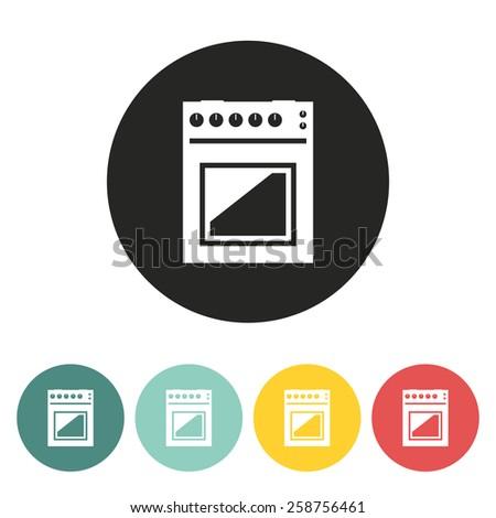Gas stove icon.Vector illustration. - stock vector