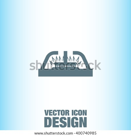 Gas Stove vector icon
