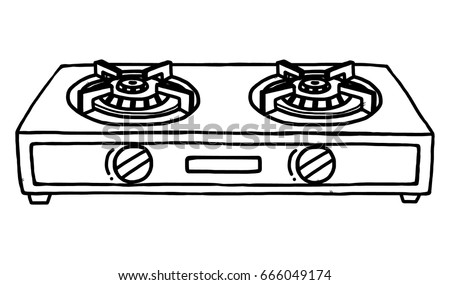 stove clipart black and white. gas stoves / cartoon vector and illustration, black white, hand drawn, sketch stove clipart white k