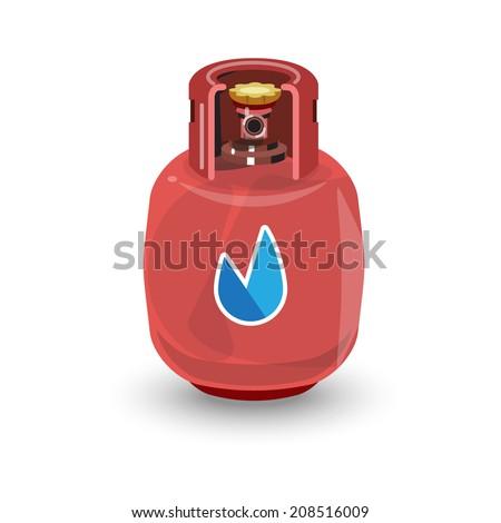 gas tank - vector illustration - stock vector