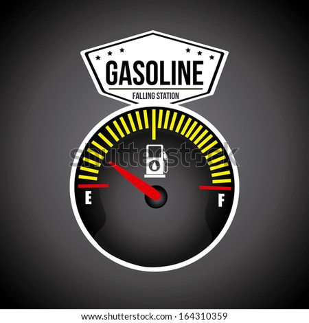 gasoline design over gray  background vector illustration