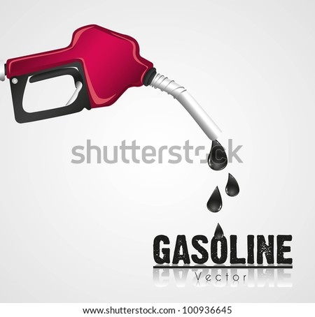 gasoline dispenser leaking, isolated on white background - stock vector