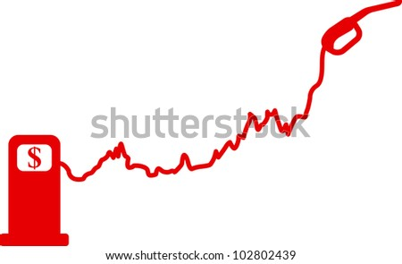 Gasoline price growth graph. Vector illustration - stock vector