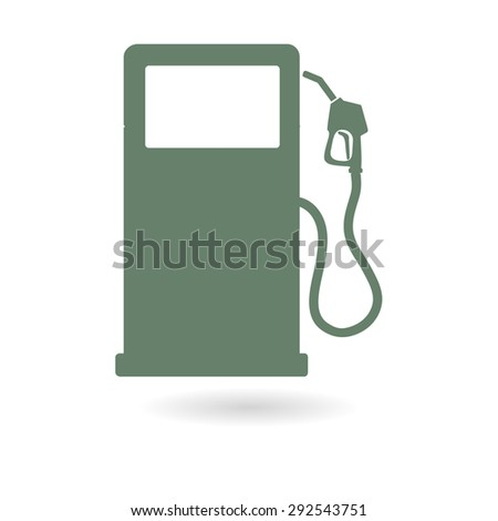 Gasoline pump nozzle sign.Gas station icon. Flat design style. - stock vector