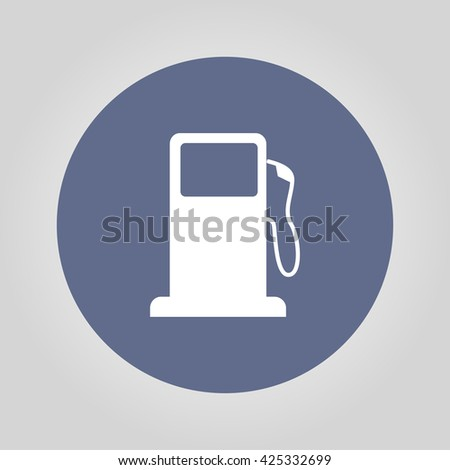 Gasoline pump nozzle sign. Gas station icon. Flat design style. - stock vector