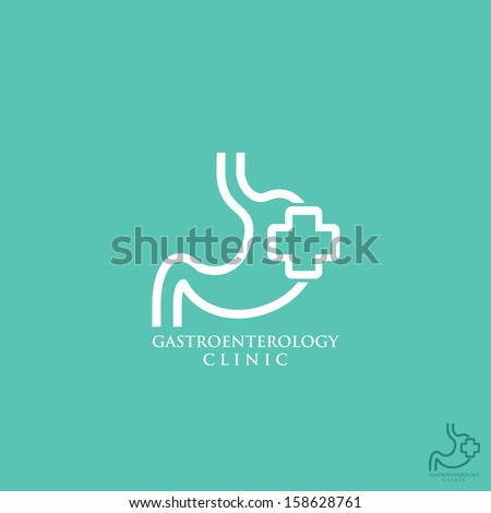 Gastroenterology symbol - vector illustration - stock vector
