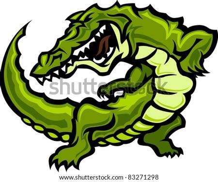 Gator or Alligator Body Graphic - stock vector