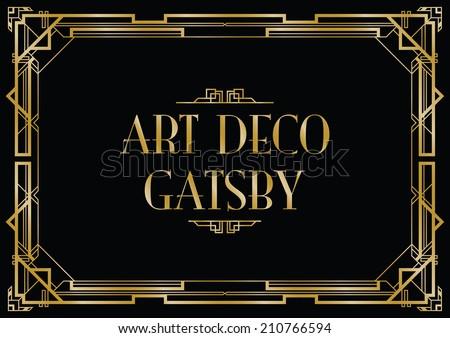 Gatsby Art Deco Background Stock Vector 210766594