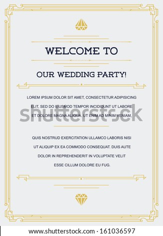 Gatsby style invitation art deco nouveau stock photo photo vector gatsby style invitation in art deco or nouveau epoch 1920s gangster era vector stopboris