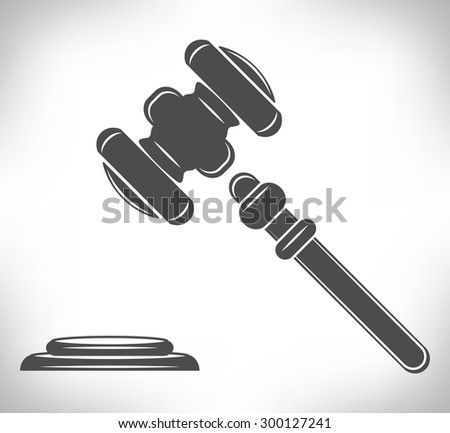 Gavel. Hammer of judge or auctioneer, judge gavel. - stock vector
