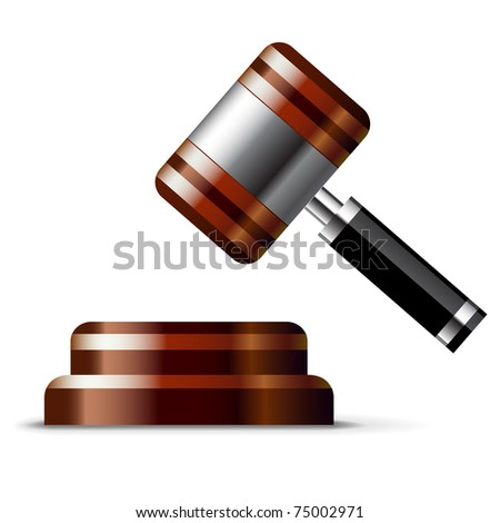 Gavel icon - stock vector