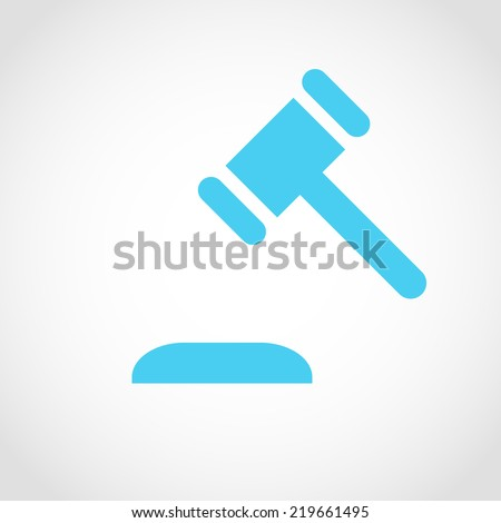 Gavel Icon Isolated on White Background - stock vector
