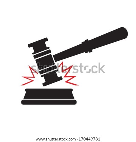 Gavel.Vector. EPS-10 (non transparent elements, non gradient) - stock vector