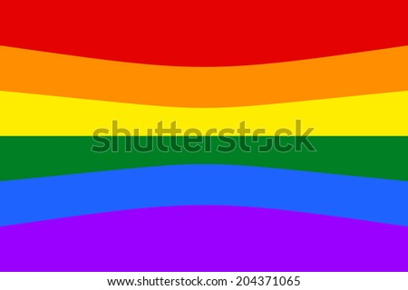 Gay and LGBT rainbow flag. Vector.