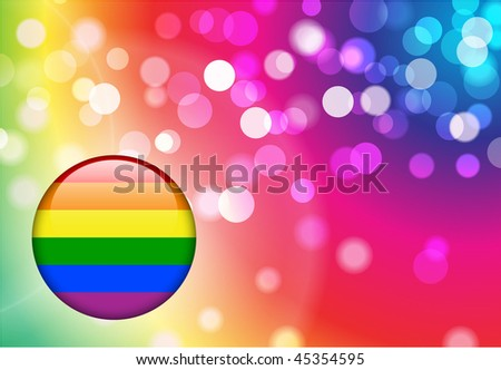 Gay Internet Button on Abstract Blur Background Original Vector Illustration AI8 Compatible - stock vector