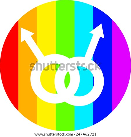 gay life vector; rainbow people vector; gay pairs; homosexual pairs; homosexual life; easy to edit - stock vector