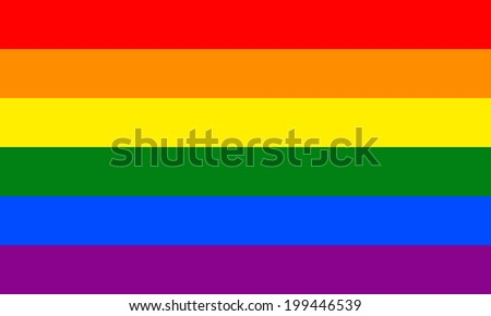 Gay vector flag or LGBT vector flag. - stock vector