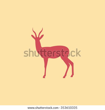 Gazelle - stock vector