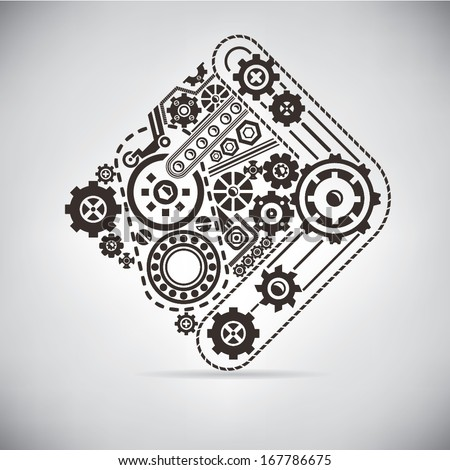 gear - stock vector