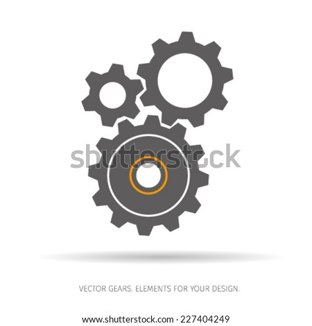Gear and cogwheel icon. Vector illustration. - stock vector