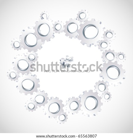 Gear background. Abstract illustration. - stock vector