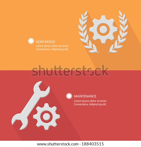 Gear badge and maintenance concept,Blank for text - stock vector