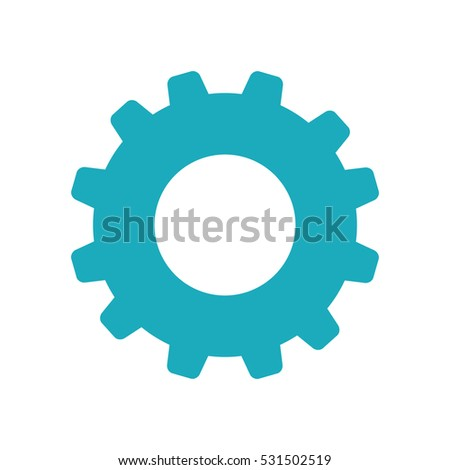 gear cog wheel icon vector illustration graphic design