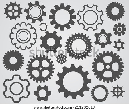 gear cogs icon - stock vector