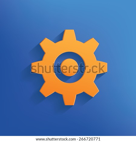 Gear design on blue background,clean vector - stock vector