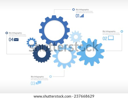 Gear Engine with Design Concept - stock vector