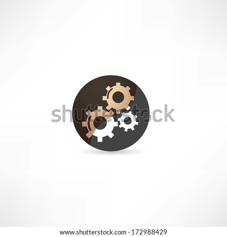 gear icon - stock vector