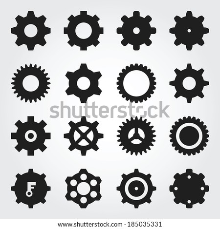 Gear icons - stock vector