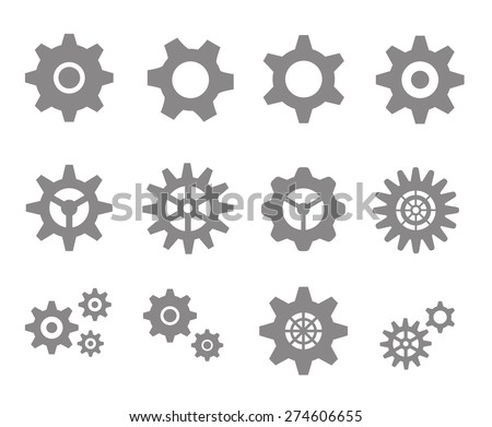 Gear icons. Vector - stock vector