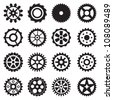 gear set - stock vector