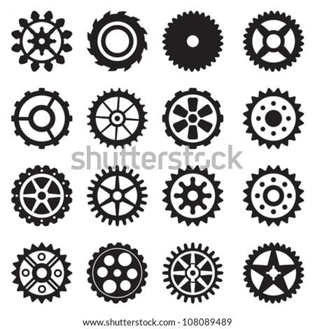 gear set - stock vector
