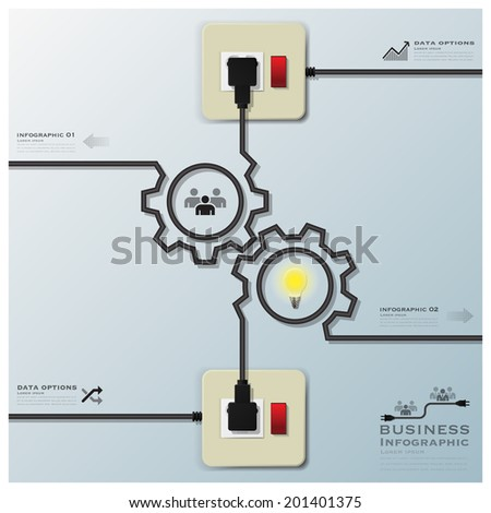 wiring diagram stock images royalty images vectors gear shape electric wire line business infographic design template