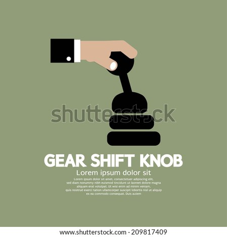 Gear Shift Knob Vector Illustration - stock vector